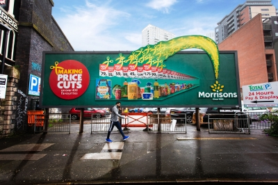 Morrisons supermarket billboard Stephen Conroy advertising photography
