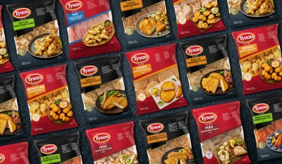 Tyson breaded chicken Stephen Conroy packaging photography