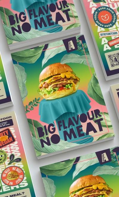 A Burger Vegan food delivery menu Stephen Conroy photography