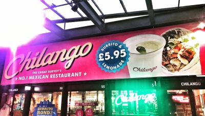 Chilango Boxpark Stephen Conroy billboard food photographer