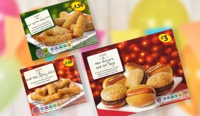 Tesco Party range Stephen Conroy packaging food photography