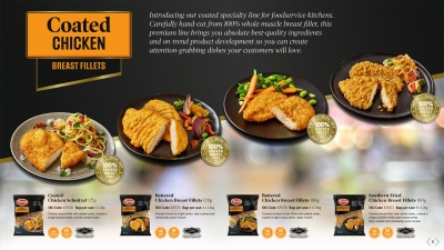 Food service Chicken breast fillet Stephen Conroy range photography