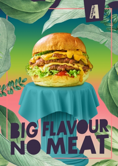 A burger Dirty Stephen Conroy Vegan burger food photography