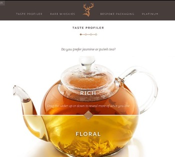 New imagery for Glenfiddich Aisa Aroma Gallery teapot