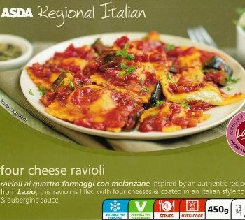 The psychology of food brand packaging Asda ravioli