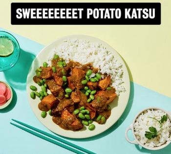 New Work : My Everday food delivery sweet potato katsu